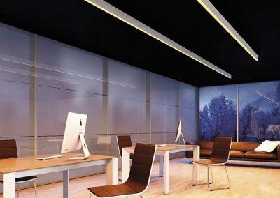 hoblolight proyecto iluminación oficina perfiles iluminación LED